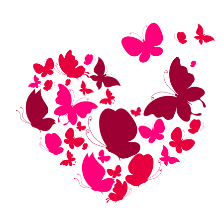 unusual valentine: butterflies design Illustration