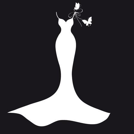 black dress: dress design Illustration