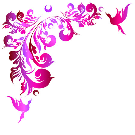 page background: art deco swirls