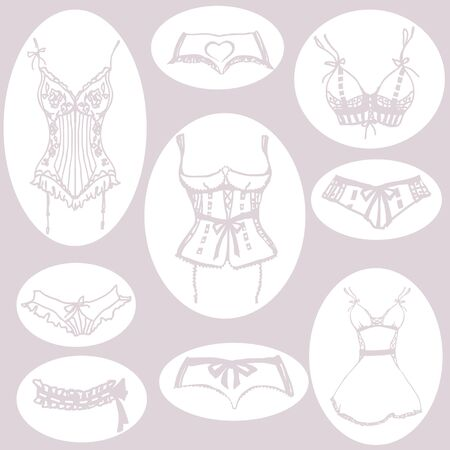 underwear design Illustration