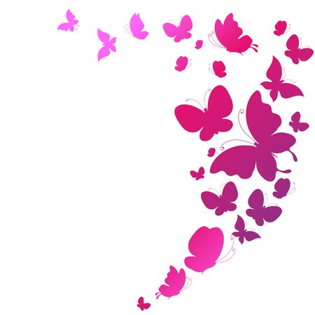 butterfly flower: butterflies design Illustration