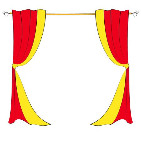garters: curtains Illustration