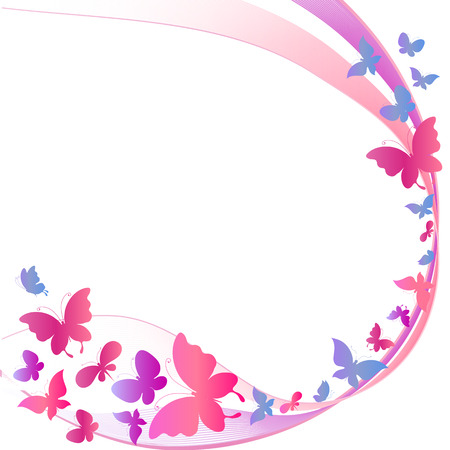 butterfly silhouette: butterflies design Stock Photo