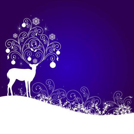 blue card: Christmas design Illustration