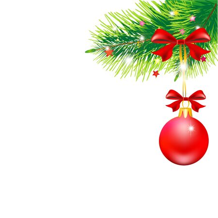 red christmas ball: Christmas design Stock Photo