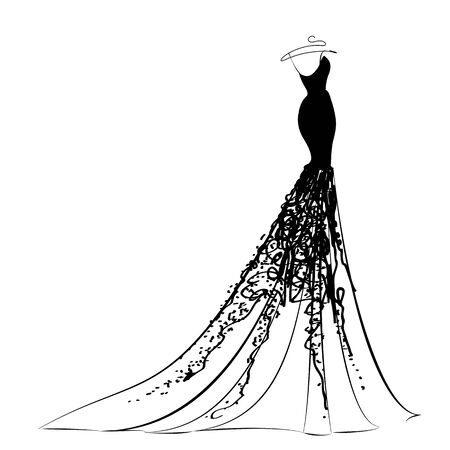 dress design Ilustrace