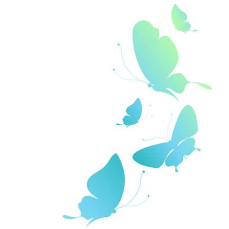 green butterfly: butterflies design Illustration