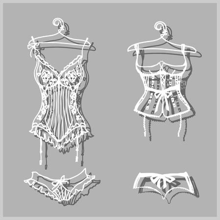 cowards: underwear design Illustration