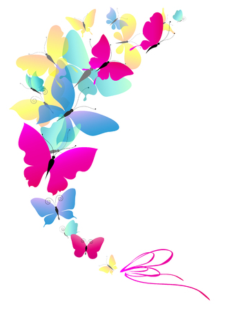 disegno farfalle