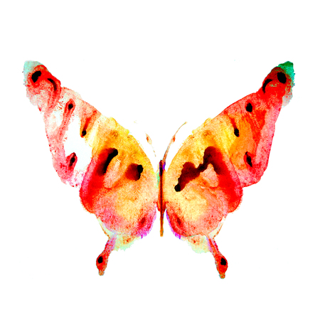 purpule: butterfly,watercolor design