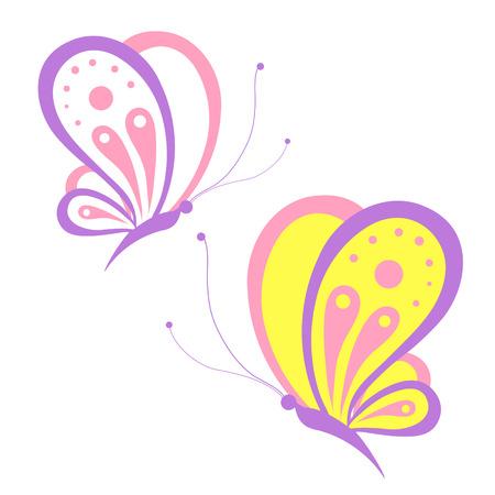postal card: butterflies design Illustration