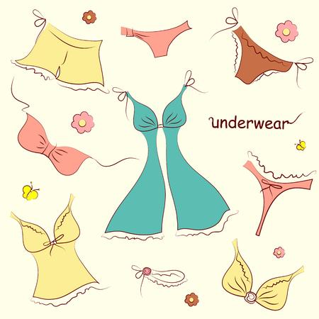 cowards: underwear,on a white Illustration