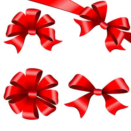 red bows, ribbon
