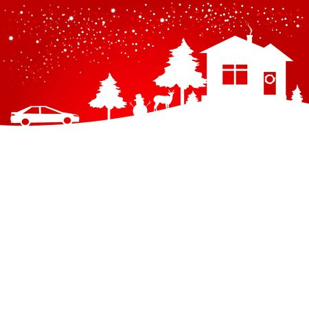 holiday: Christmas day, holiday Illustration