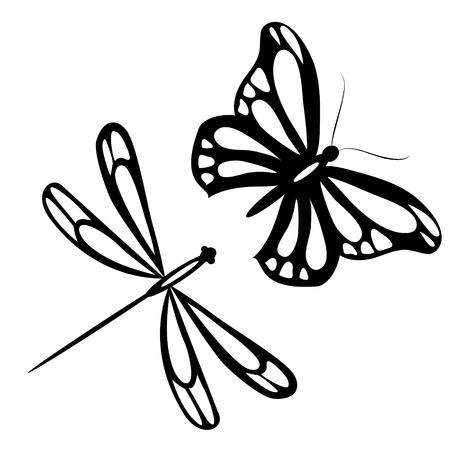 Farfalla nera, isolato su un bianco