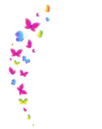 greeen: butterflies design Stock Photo