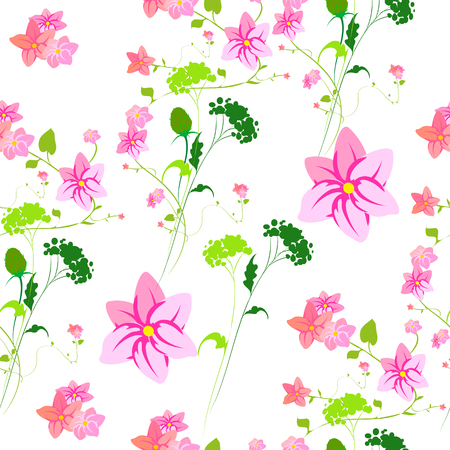 Beautiful wildflowers bouquet Vektorgrafik