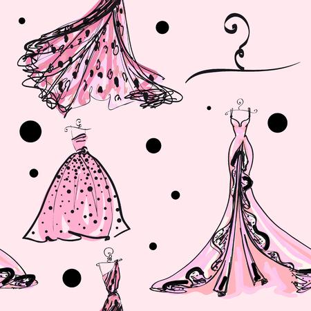 conception de robe de mariée, motif