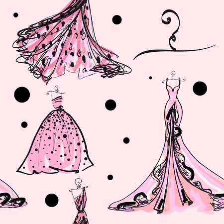 wedding dress design, pattern