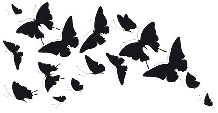 Beautiful butterfly isolated on a white Иллюстрация