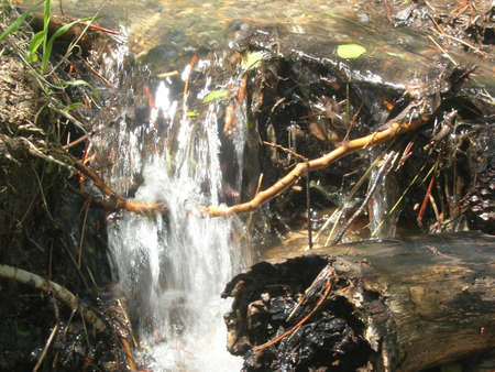 runoff: Spring runoff in mountains Stock Photo