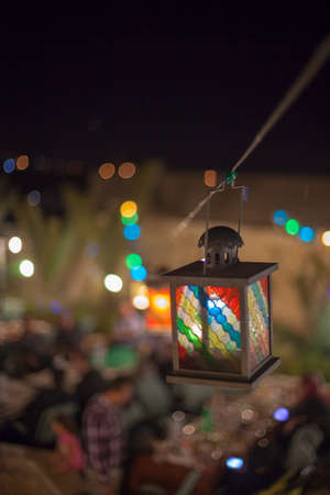 colorful lantern: Colorful lantern from arab tradition  Ramadan Nights