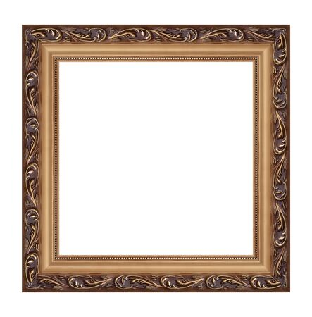 square cut: old frame on a white background