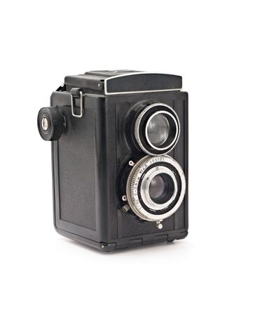 old camera on a white background photo