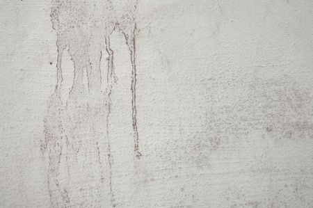 water stained: Water stained and grungy concrete wall with cracks Stock Photo