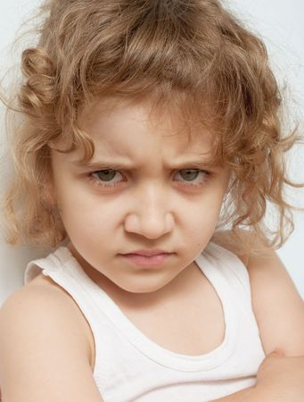 Portrait of a beautiful crying girl Stock Photo - 7960889