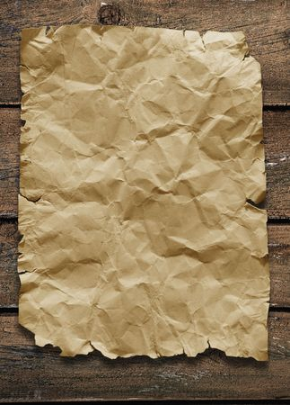 old paper on brown wood texture with natural patterns  Stock Photo - 7974944