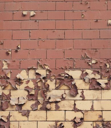 asbestos: Old brick wall