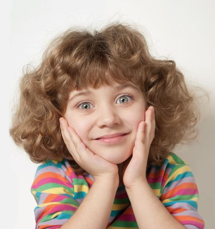 beautiful little girl with blue eyes Stock Photo - 7960916
