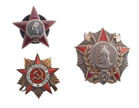 Sovjet-Unie orde van hoogste valor tijdens de oorlog  Stockfoto