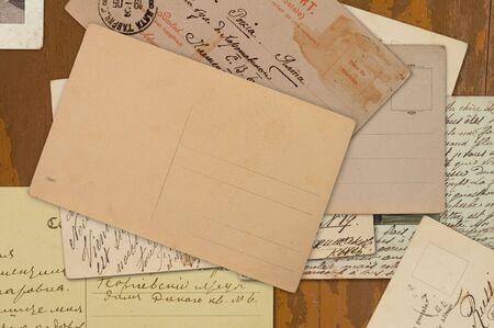 achtergrond van oude ansicht kaarten  Stockfoto