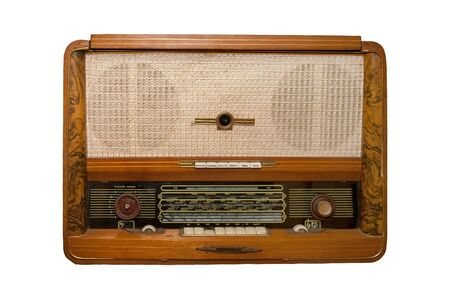 old radio on a white background Stock Photo - 7975257