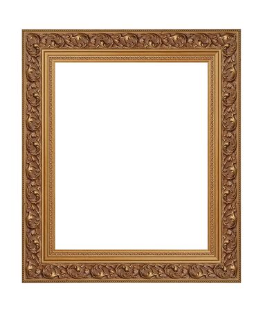 old frame on a white background  photo