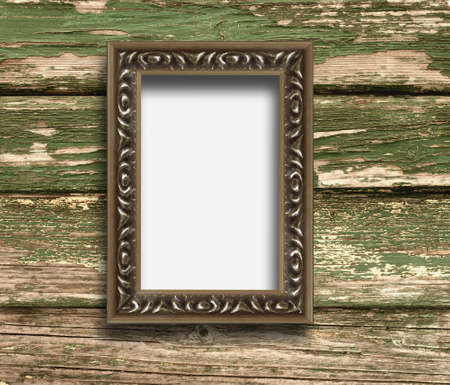 Old frame on a wooden background Stock Photo - 8318623