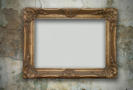frame on the old wall Stock Photo - 8318596