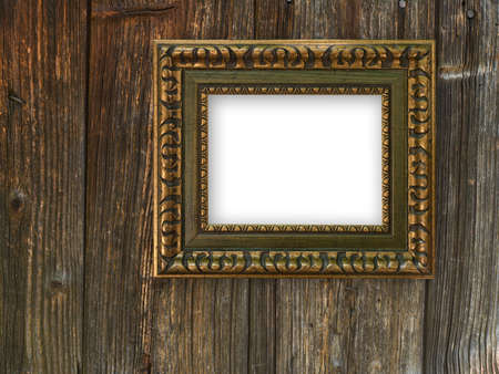 Old frame on a wooden background Stock Photo - 8318602
