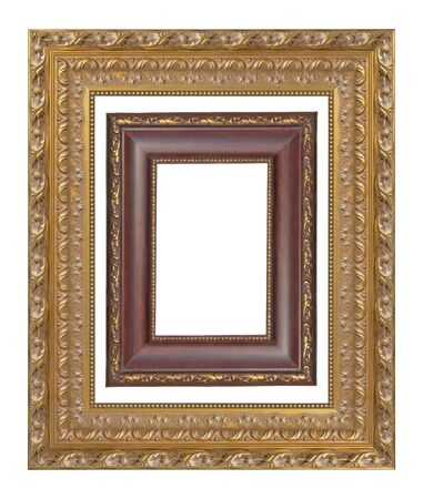 old frame on a white background Stock Photo - 8318599