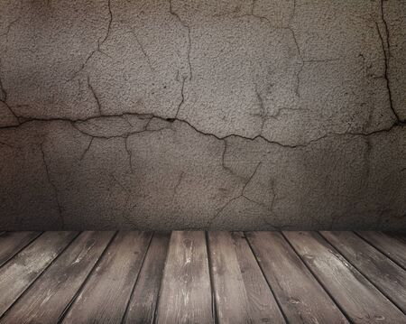 grunge floor and wall in old room  Stock Photo - 8543252