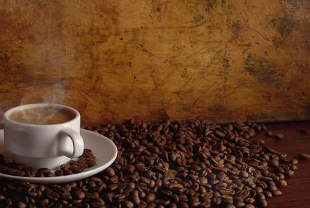Warme koffie  Stockfoto