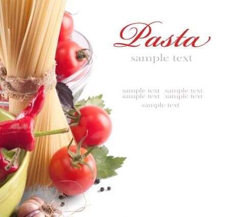 macaroni: Italiaanse Pasta met tomaten Stockfoto