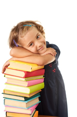 Young girl with books  photo