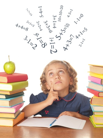 Young girl with books Stock Photo - 10941993