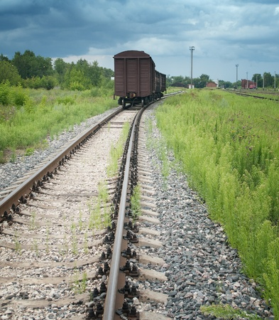 railway points: Railway  Stock Photo