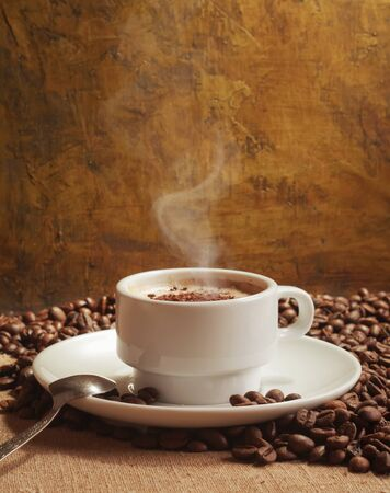 hot coffee  Stock Photo - 10941911