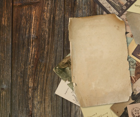 photo album page: vintage background with old paper Stock Photo