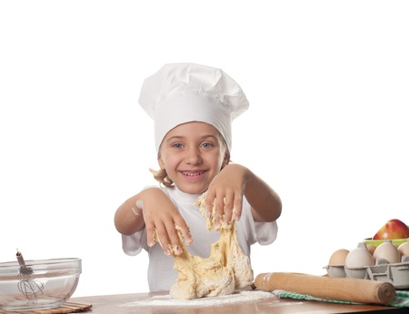 little dough: photo of little baker adorable.Cooking concept.